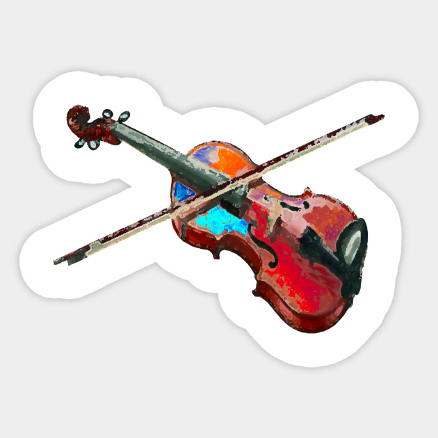 decal or sticker I heart or love violin or musician. Great for violinist