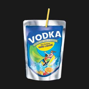FUNNY ADULT VODKA JUICE BOX POUCH DRINKING T-SHIRT t-shirts