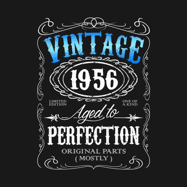 Vintage 1956 Aged To Perfection 60th Birthday Gift For Men 60