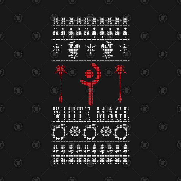 Final Fantasy Xiv White Mage Ugly Christmas Sweater Ugly Sweater