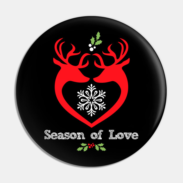 Cute Deer Bucks Christmas LGBTQ Gay Holiday Saying