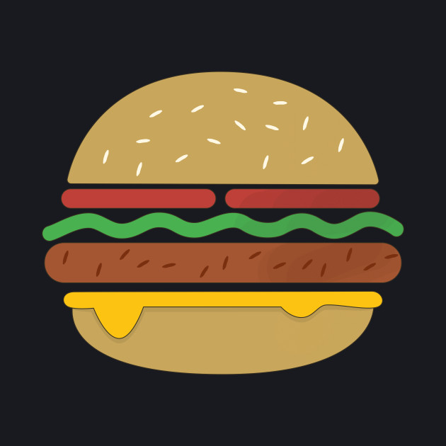 Vintage Burger T-Shirt