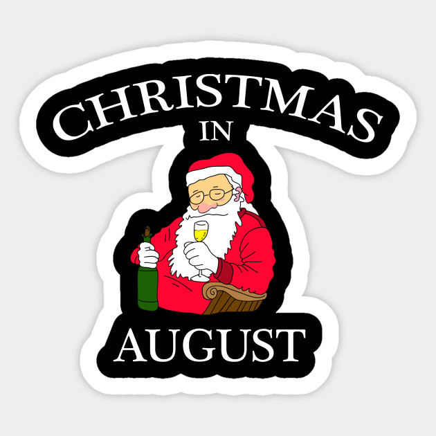 Christmas In August Clipart.Christmas In August Funny Christmas