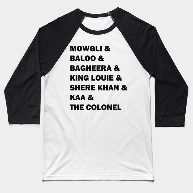 The Jungle Book Crew Jungle Book Baseball T Shirt Teepublic