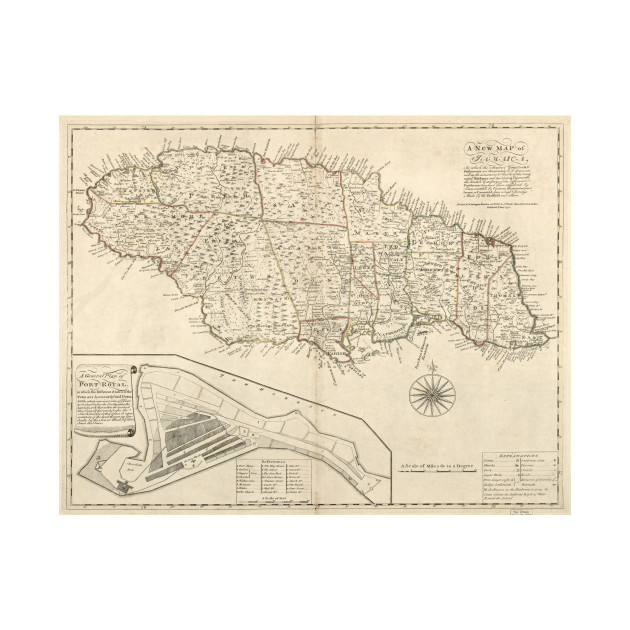 Vintage Map Of Jamaica Jamaica Map Tapestry TeePublic - Vintage map of jamaica
