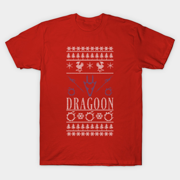 Final Fantasy XIV Dragoon Ugly Christmas Sweater T-Shirt - Final ...