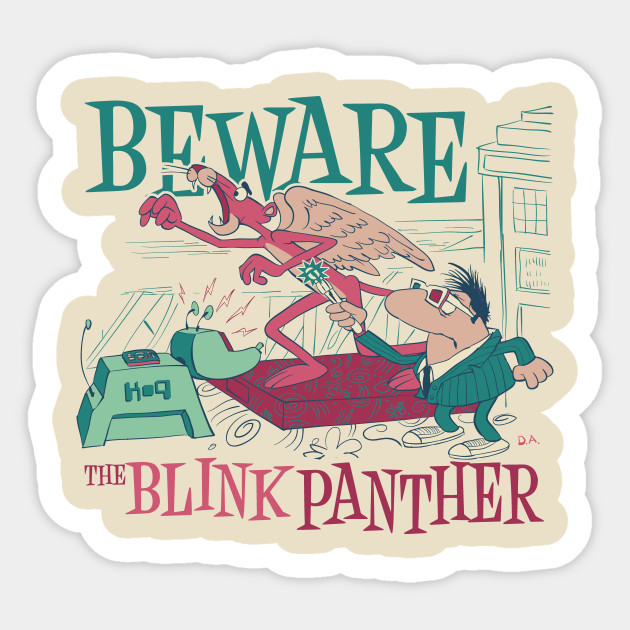 Blink Panther Sticker