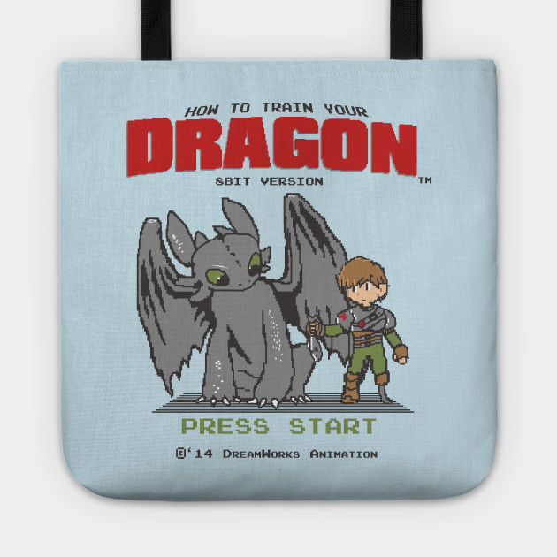 180d20ee How To Train Your Dragon 8Bit Version - Mashup - Tote   TeePublic