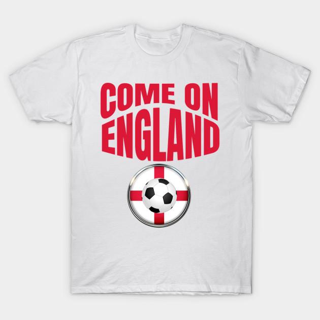 487d895e6 England Flag Soccer Shirt Come On England Soccer Jersey Football T-Shirt T- Shirt