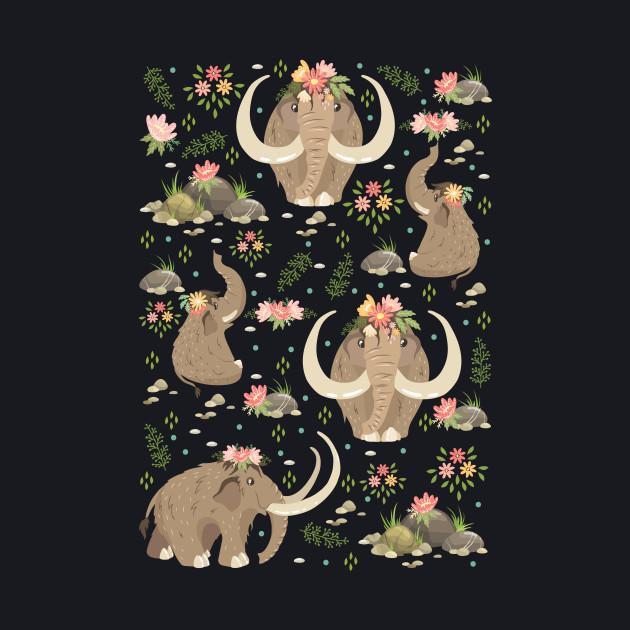 Cute mammoths
