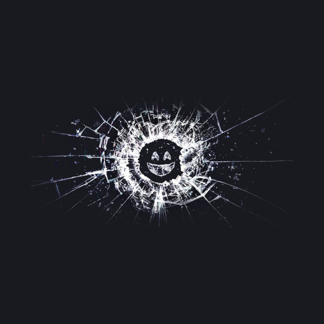 Black Mirror - Glass Smiley - White