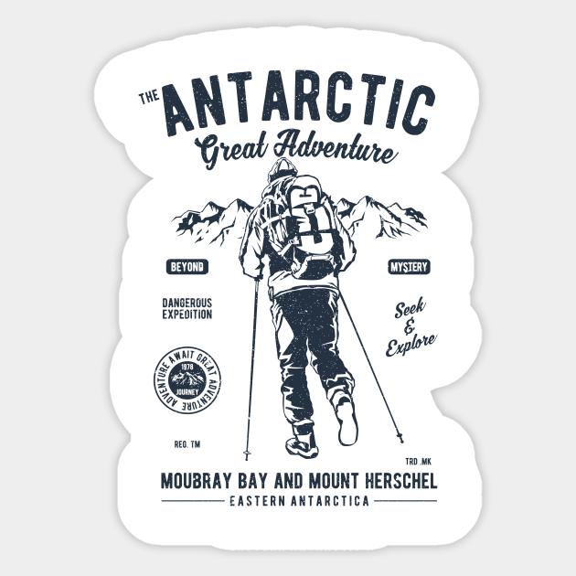Vintage Antarctic Adventure Antarctic Adventure Aufkleber Teepublic De