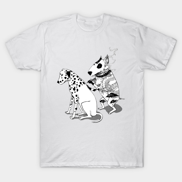 Dalmatian Dog Tattoo Bull Terrier Funny T Shirt Tee Many Colors Gift New From US