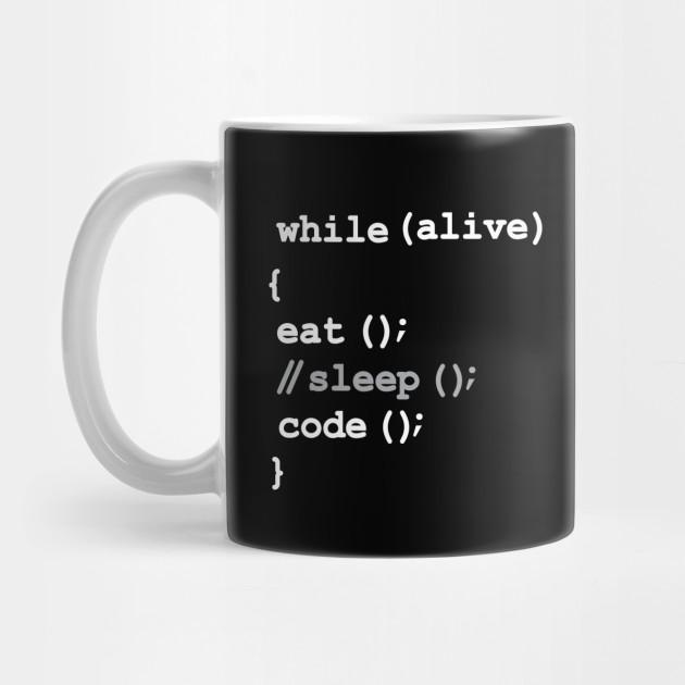 Details about  /Eat Sleep Code Repeat Coffee Mug Gift For Programmer Gift For Coder Nerd Mug
