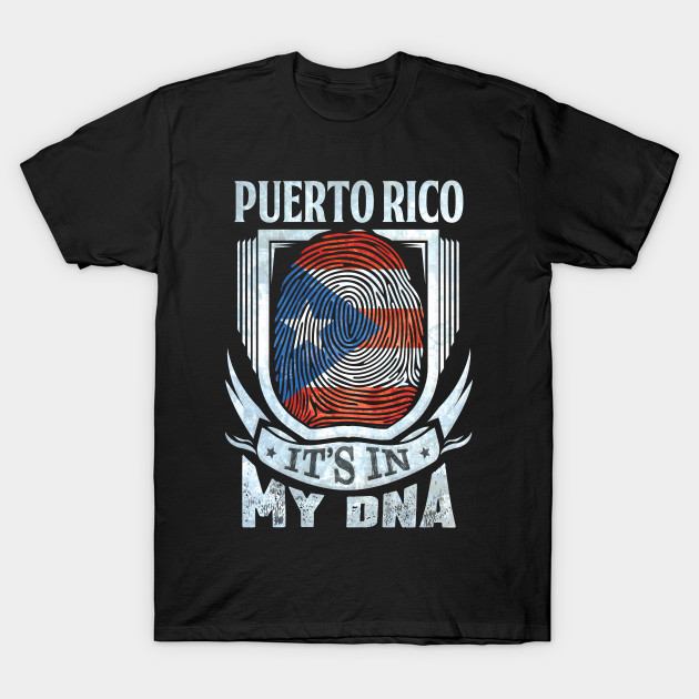 Boys Soft Long Sleeve Crew Neck Cotton Puerto Rico Flag-Its in My DNA T-Shirt for Youth