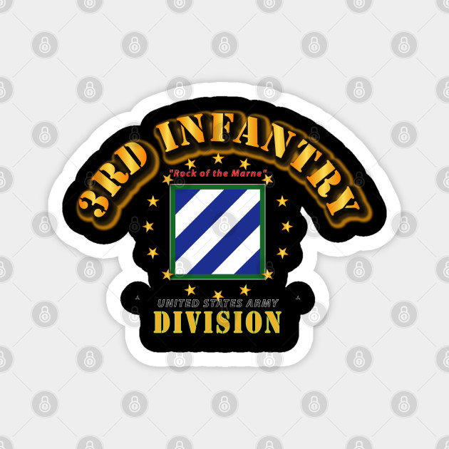3rd Infantry Division Army Marne American Flag US Veteran sticker decal