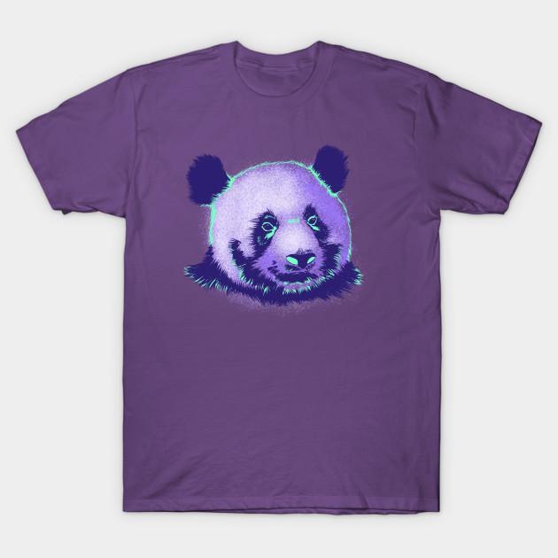 60522141d Neon Retro Panda - Panda Bear - T-Shirt   TeePublic