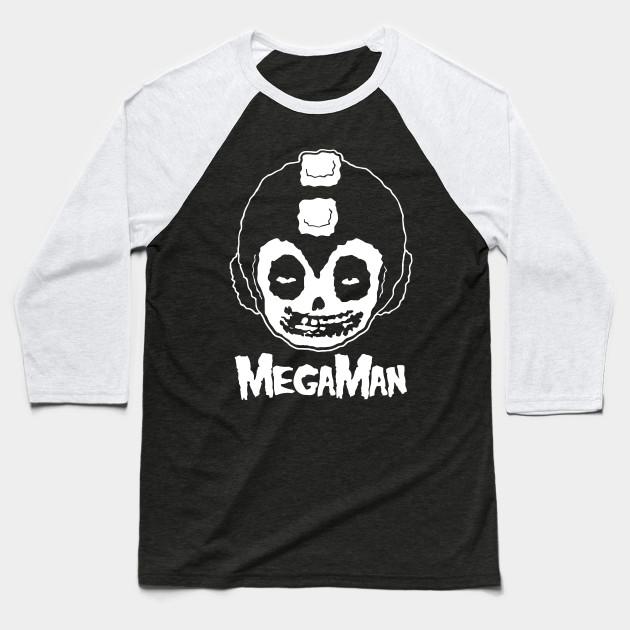 ca939181a438d MEGAMAN MISFITS - Rock - Baseball T-Shirt