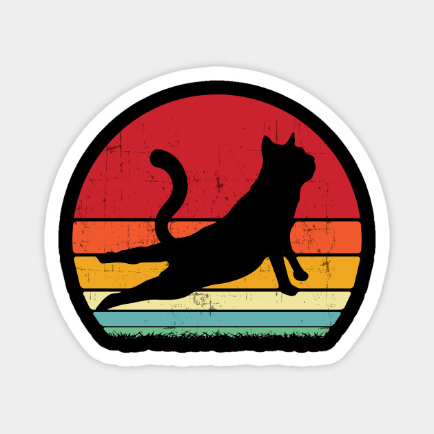 Funny Cat Yoga Pose Gift Yoga Instructor Gifts Yogi Eastern Meditation Fitness Zen Pet Owner Funny Cat Yoga Magnet Teepublic