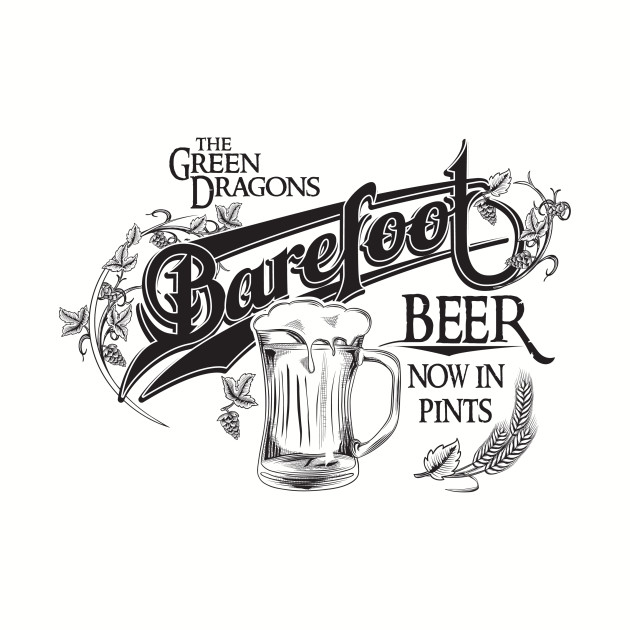 The Hobbit Barefoot Beer Shirt