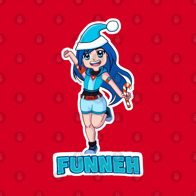 Funneh in a blue Christmas hat