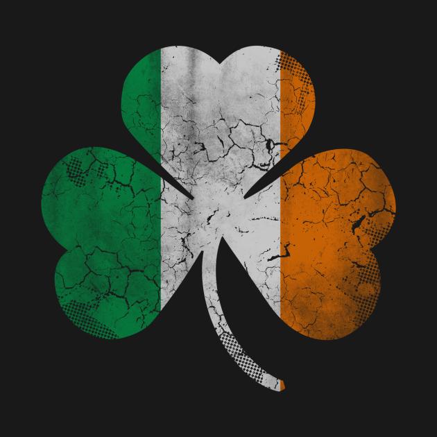 Vintage Flag of Ireland Shamrock