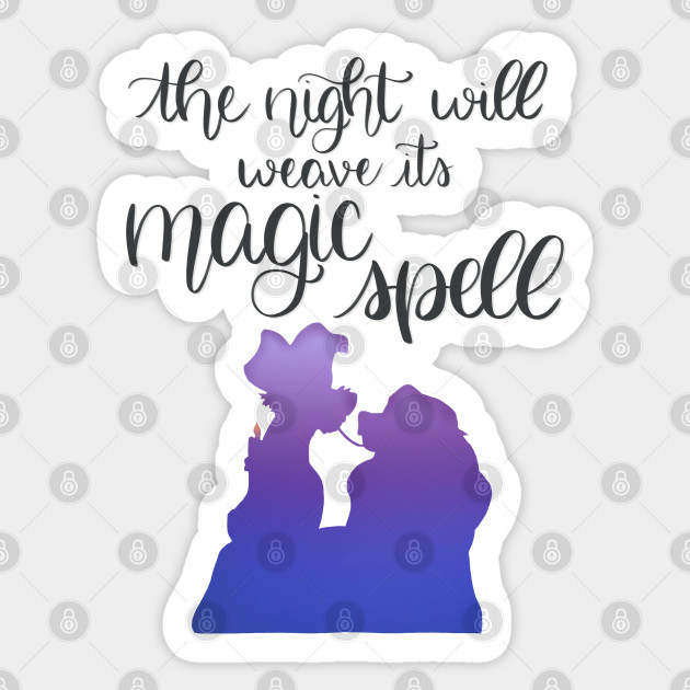 Lady And The Tramp Bella Notte Lady And The Tramp Spaghetti Scene Sticker Teepublic Uk