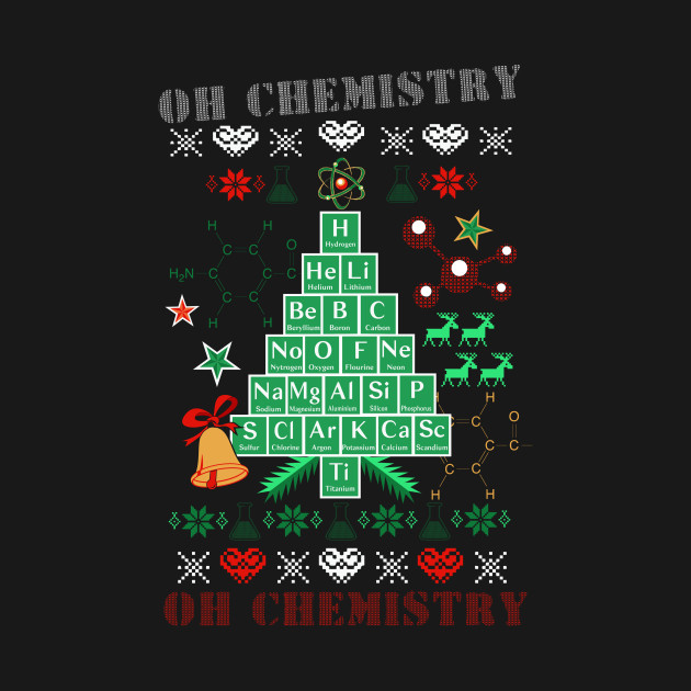 Oh Chemistree Chemistry Funny Ugly Christmas Sweater