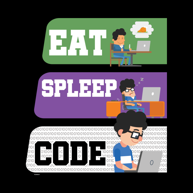 Eat Sleep Code Repeat Funny Computer Programmer