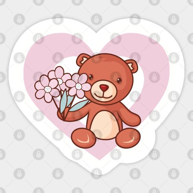 Cute Teddy Bear Heart For Stuffed Animal Lovers Cute Teddy Bear