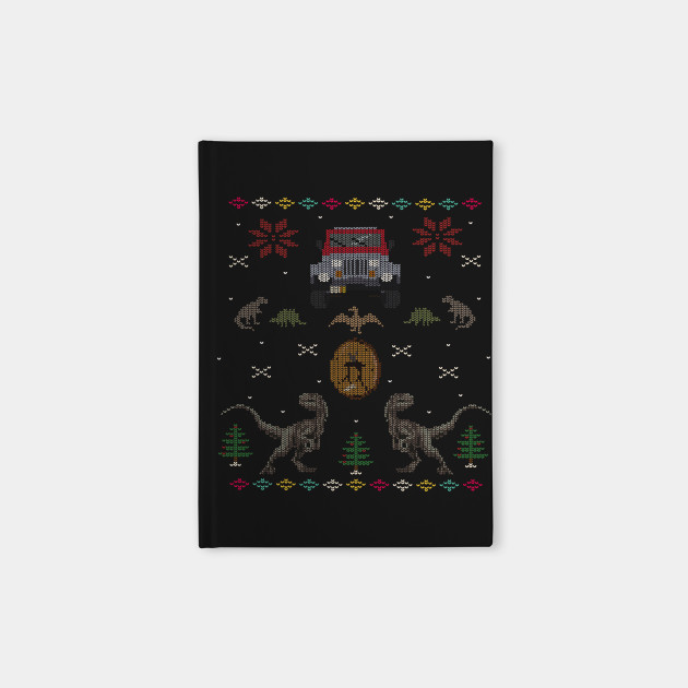 Ugly Jurassic Christmas Sweater Jurassic Park Notebook Teepublic