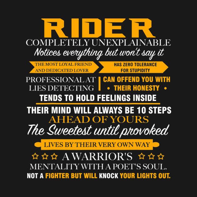 Rider Completely Unexplainable Shirt Name