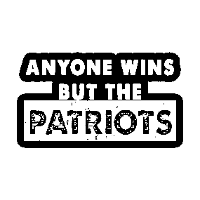 13706220741 Anyone But The Patriots - Anti New England Football Vintage Sticker