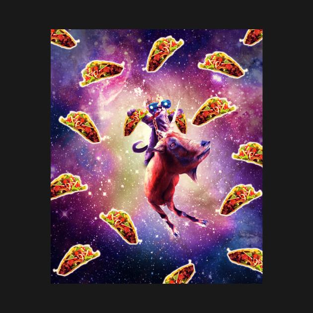Thug Space Cat On Goat Unicorn - Taco
