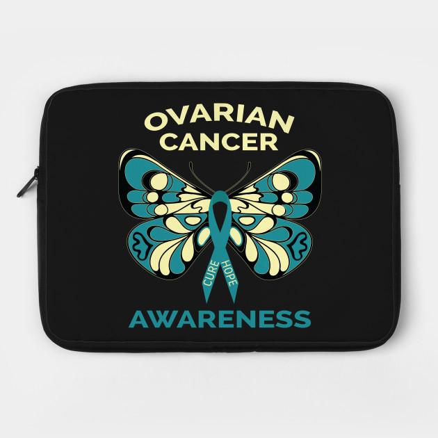 Ovarian Cancer Awareness Butterfly Teal Ribbon Ovarian Cancer Laptop Case Teepublic