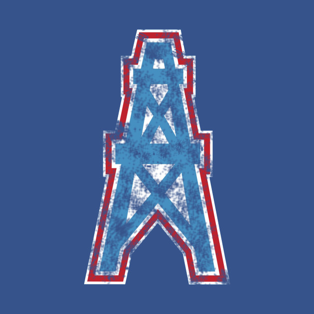 Faded Vintage Houston Oilers - Vintage Retro Houston Oilers - T ... 490ed1d3a