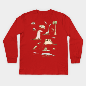 488126984 Pterodactyl Kids Long Sleeve T-Shirts | TeePublic