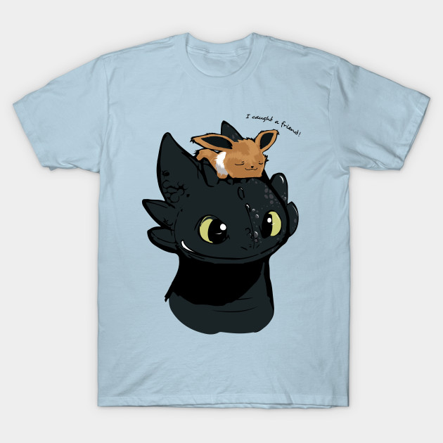 Eevee Toothless How To Train Your Dragon T Shirt