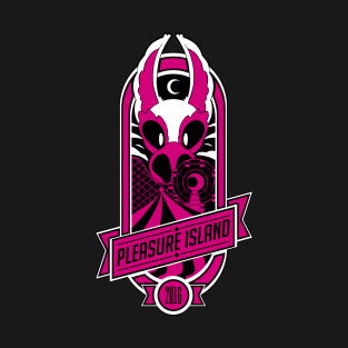 Pleasure Island 2016 (pink) t-shirts