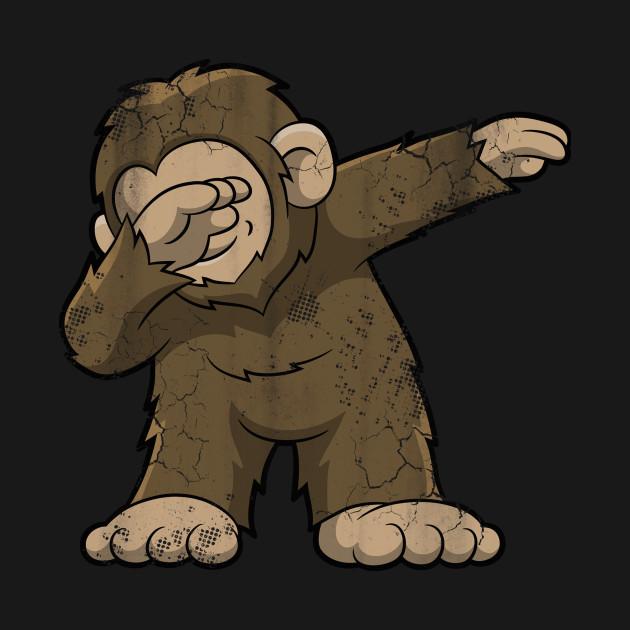 040226305 Dabbing Bigfoot Squatch - Bigfoot - T-Shirt   TeePublic