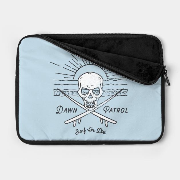 Dawn Patrol - Surf Or Die White Skull Insignia