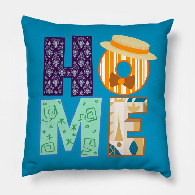Textures Of Home Disney Parks Pillow Teepublic