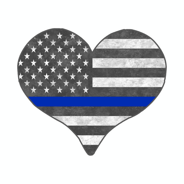 I Love Police Thin Blue Line
