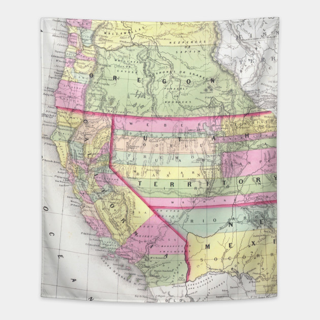 Vintage Map of The Western United States (1853)
