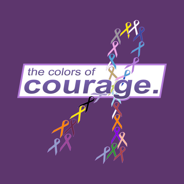 The Colors of Courage Cancer Awareness Ribbons