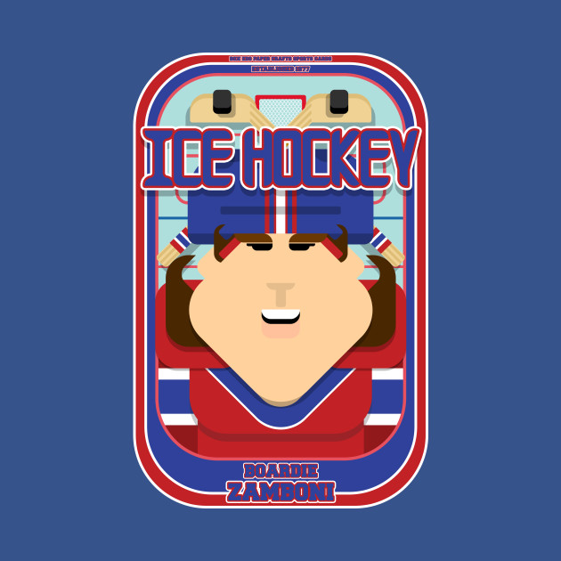 Ice Hockey Red and Blue - Boardie Zamboni - June version