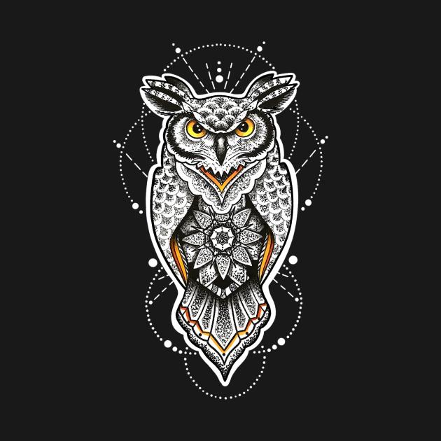 Great Horned Geo Owl