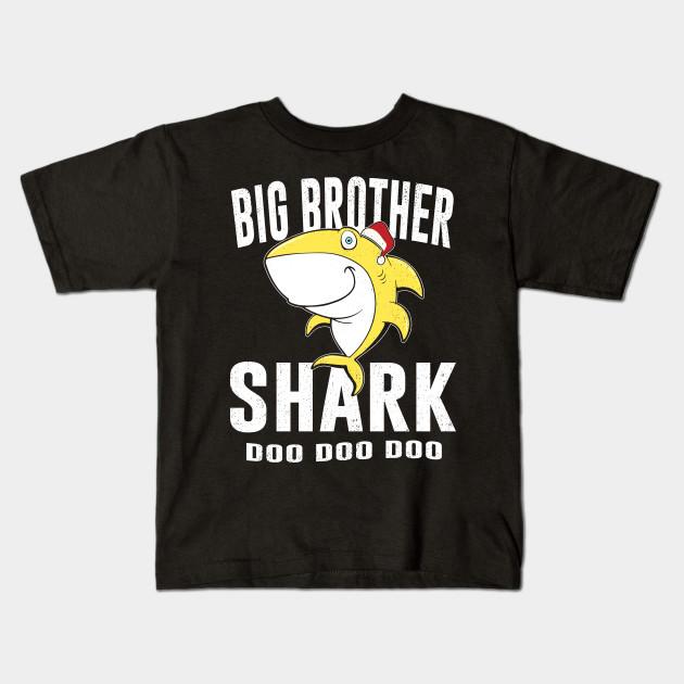 Big Brother Shark Shirt Birthday Thanksgiving Christmas Gift Kids T