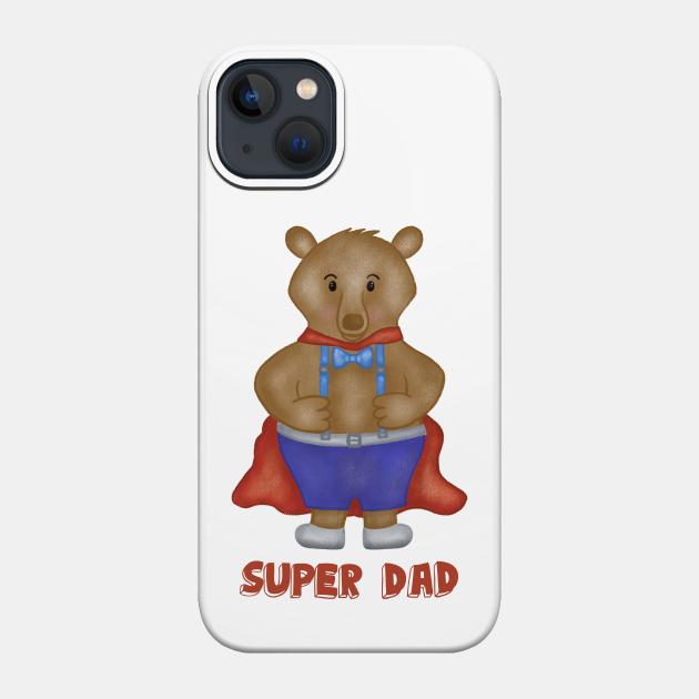 Super dad cute bear