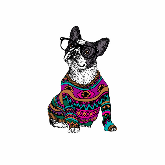 hipster frenchie